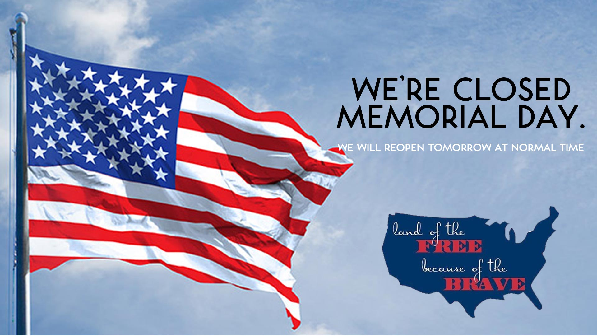 Closed memorial day for Decoration day