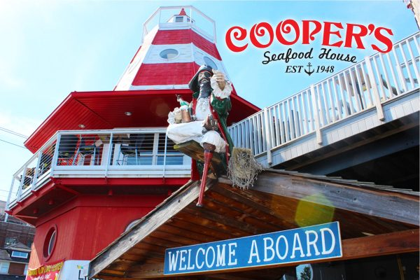 Welcome Aboard Cooper's Scranton PA Postcard