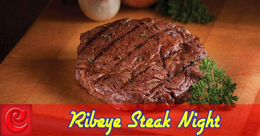 Steak Night – Three Quarter Pound Bone-In Ribeye 19.95